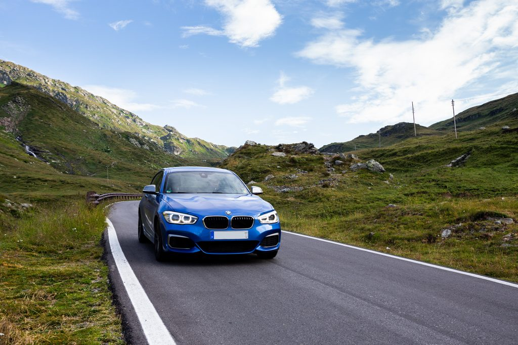 The BMW M140i with its B58 engine have fun on the Splugen Pass.