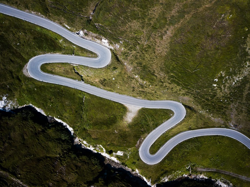 San Bernardino Pass - Kurven